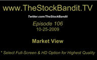 TSBTV#106 - Market View 10-25-2009