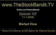 TSBTV#107 - Market View 11-1-2009