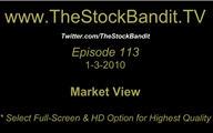 TSBTV#113 - Market View 1-3-2010
