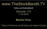 TSBTV#115 - Market View 1-18-2010