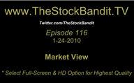 TSBTV#116 - Market View 1-24-2010