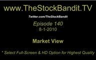 TSBTV#140 - Market View 8-1-2010