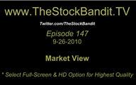 TSBTV#147 - Market View 9-26-2010