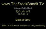 TSBTV#148 - Market View 10-3-2010